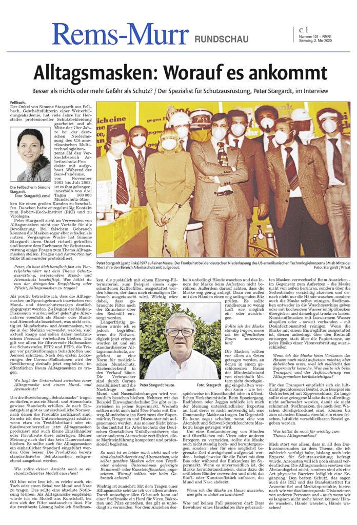 Artikel Rems-Murr Rundschau